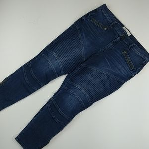 GAP True Skinny Zippered Ankle Crop Jeans Size 33